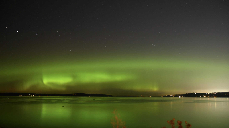 Aurora Borealis seen over Edmonds, WA
